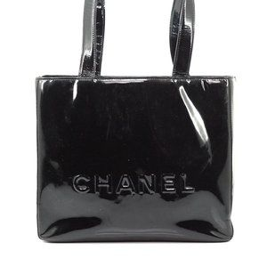 Chanel Shoulder Bag Black Enamel #N7010H37